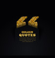 golden quote blank template on dark background vector image