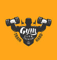 gym club logo sport bodybuilding emblem vector image vector image