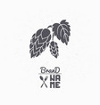 hand drawn silhouette of hop branch vector image