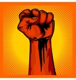 Hand Up Proletarian Revolution - Fist of vector image vector image