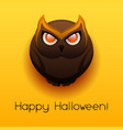 happy halloween angry owl vector image vector image