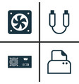 hardware icons set collection of power generator vector image