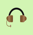 headphone flat design graphic vector image vector image