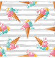 ice cream pattern striped background trendy art vector image vector image