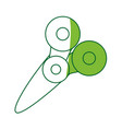 isolated scissor cartoon vector image