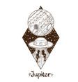 landscape of planet rhombus jupiter vector image vector image