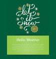 let it snow inscription on background of snowflake vector image vector image