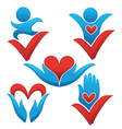 love life and health signs symbols and concepts vector image vector image