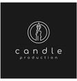 luxury candle light logo design vector image