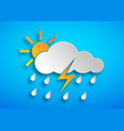 paper art hard rain icon vector image