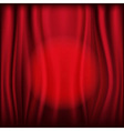 Red curtains With Light Circle vector image vector image