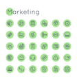 Round Marketing Icons vector image