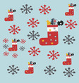 santa red sock with presents and sweets merry vector image vector image