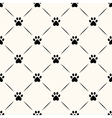 Seamless animal pattern of paw footprint vector image vector image