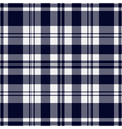 seamless blue black tartan with stripes vector image vector image