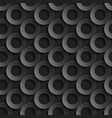 seamless pattern with paper cut 3d black circles vector image vector image