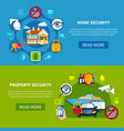 security banners set vector image vector image