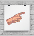 set realistic hands - gestures hand painted vector image