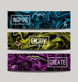 set with ink watercolor hand drawn marble banners vector image vector image