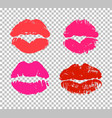 sexy and passionate kiss sign vector image