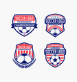 soccer logo badge vector image vector image