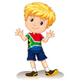 South Africa boy waving and smiling vector image