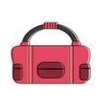 sport bag isolated vector image vector image