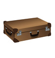 suitcase brown vector image vector image