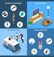 telecommunication 2x2 icons set vector image vector image