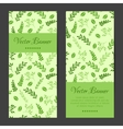 vertical banners cards brochures set vector image vector image