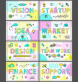 vision start up and finance vector image vector image