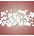 White paper hearts Valentines day card on vector image vector image