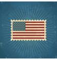 Retro United States Postage Stamp vector image
