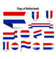 a large set icons and signs with flag vector image vector image
