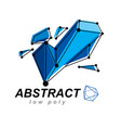 abstract 3d mesh polygonal object communication vector image