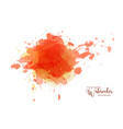 abstract isolated orange watercolor drops splash vector image vector image