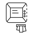 atm icon outline style vector image vector image