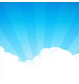 background with cloudscape at sunny day cartoon vector image