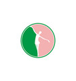 ballet dance logo designs inspiration isolated on vector image vector image