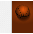 basketball border background on white vector image vector image