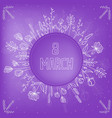 beautiful background for international womens day vector image vector image