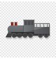 black locomotive icon cartoon style vector image vector image