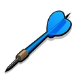 Blue dart for Darts Icon on white background vector image vector image