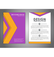 Brochures in the style of the material design vector image vector image