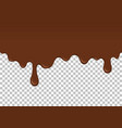 brown dripping slime seamless pattern vector image vector image