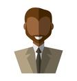 businessman avatar elegant islated icon vector image vector image