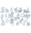 chemistry lab work science equipment hand drawn vector image