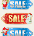 Christmas sale stickers vector image vector image