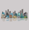 cityscape urban landscape vector image