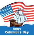 columbus day concept banner cartoon style vector image vector image